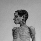 A anatomy study created from a starving African child found in an ad. Hand drawn with pencil   donavon brutus donovan brutus donovon brutus donavonmadethat donovanmadethat donavon made that
